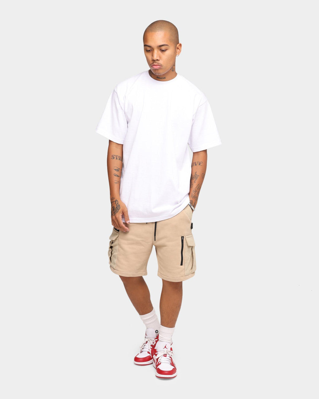 Carré Evolution Fleece Cargo Shorts Stone