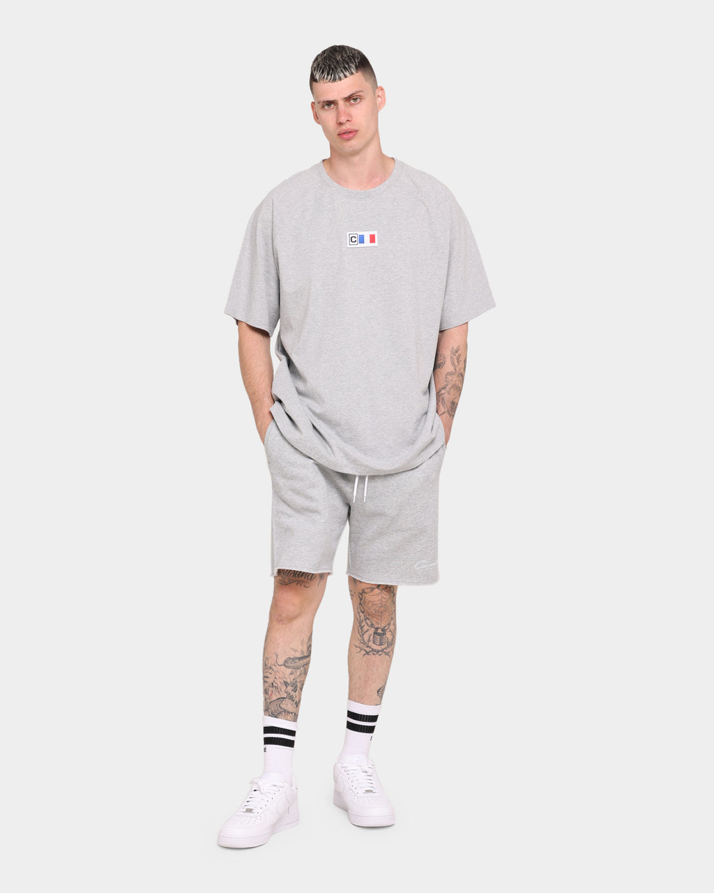 Carré Paris City Sweat Short Grey Marle