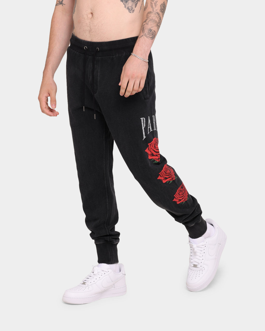 Carré Rose Vintage Sweatpants Washed Black
