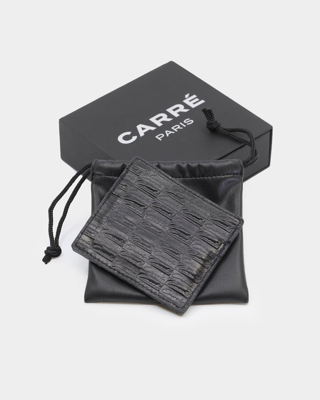 Carré Scripted Card Wallet Black