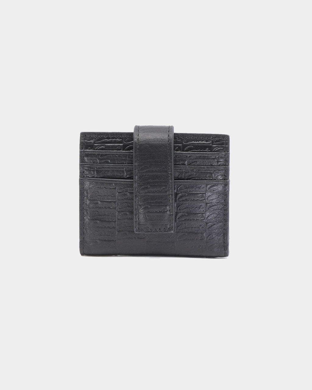 Carré Scripted Folding Card Wallet Black