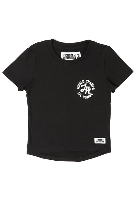 Lil Homme World Champs Short Sleeve Tee Black