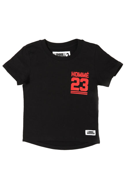 Lil Homme Jump Droptail SS Tee Black