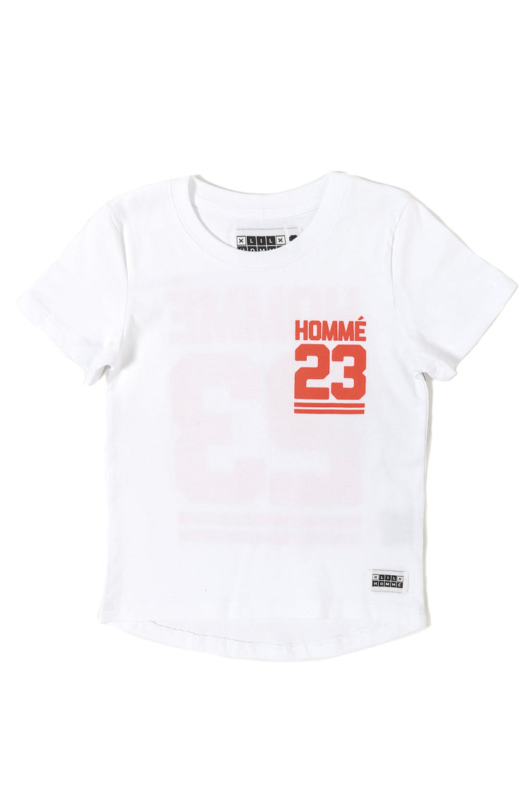 Lil Homme Jump Droptail SS Tee White