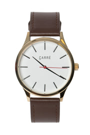 Carré King Louis Leather 40MM Gold/Brown