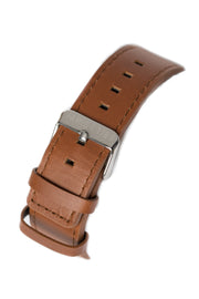 Carré King Louis Leather 40MM Silver/Tan