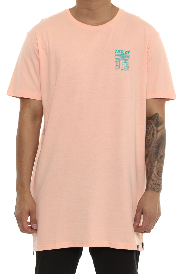 Carré Arc Capone Short Sleeve Tee Peach