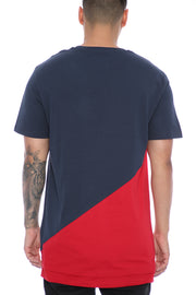 Carré Diagonal Panel 2.0 SS Tee Navy/Red