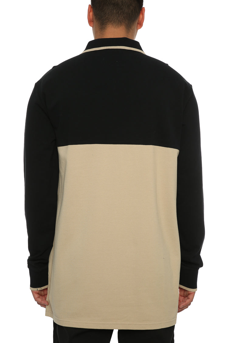 Carré Le Mas Long Sleeve Polo Black/Stone