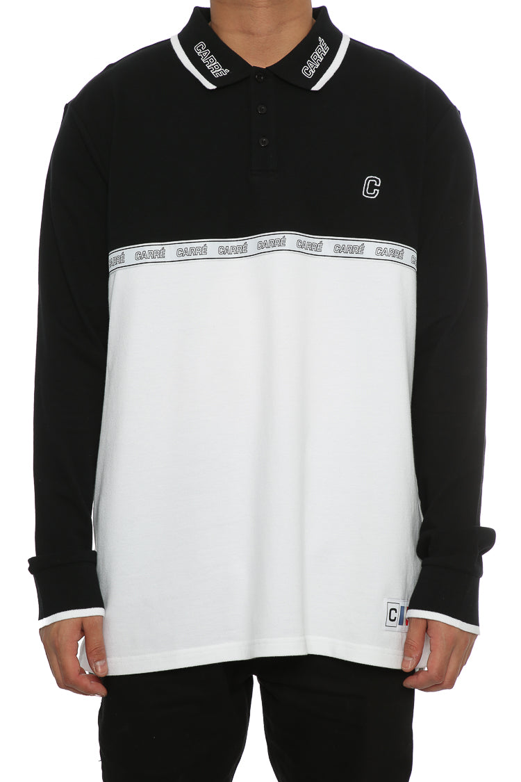 Carré Le Mas Long Sleeve Polo Black/White