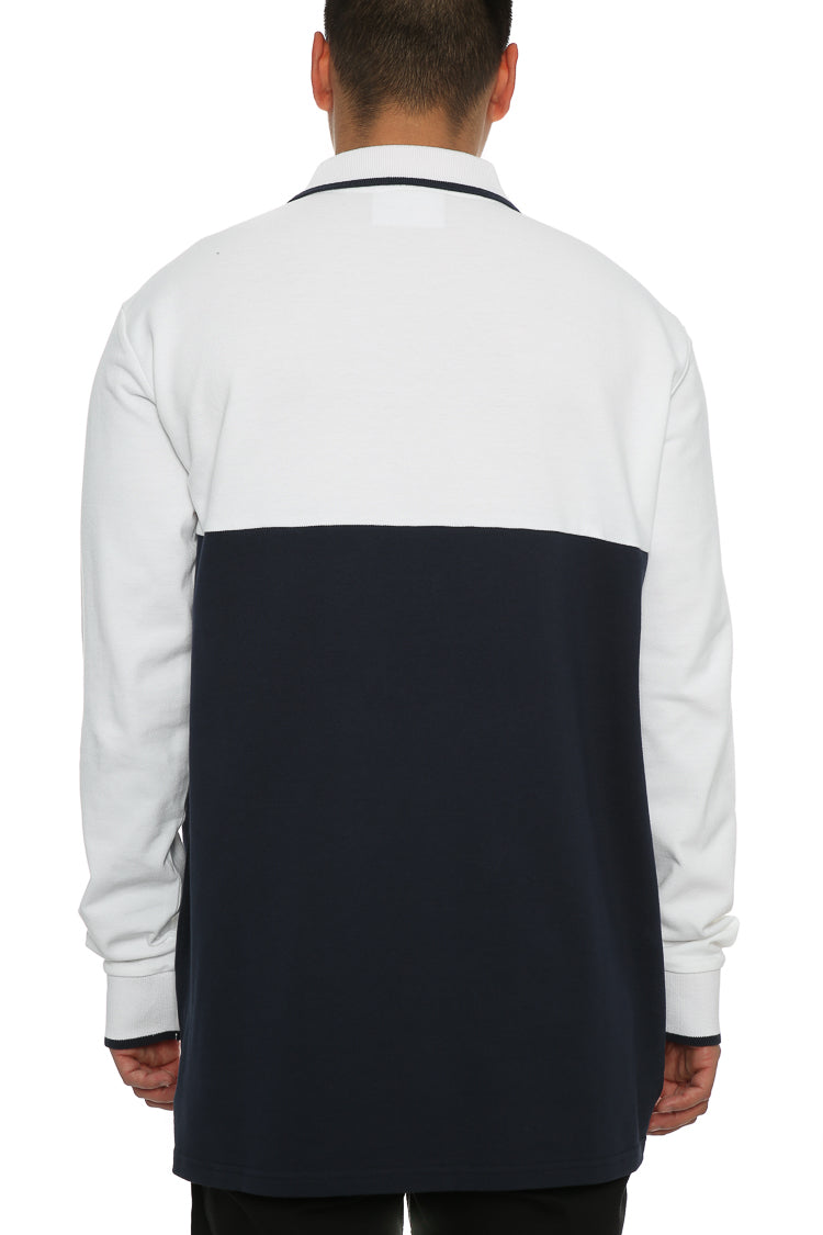 Carré Le Mas Long Sleeve Polo White/Navy
