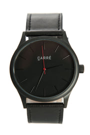 Carré King Louis Leather 45mm Black/Black