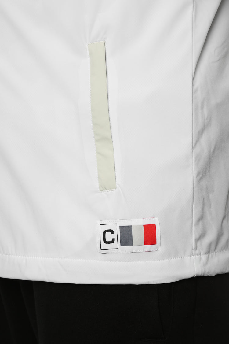Carré Coquille Anorak Jacket White/Grey
