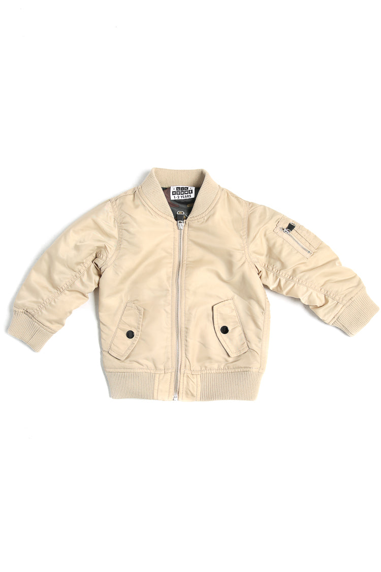Lil Homme Bomber Jacket Stone