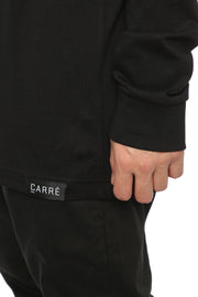 Carré Le Cou Mock Long Sleeve Tee Black