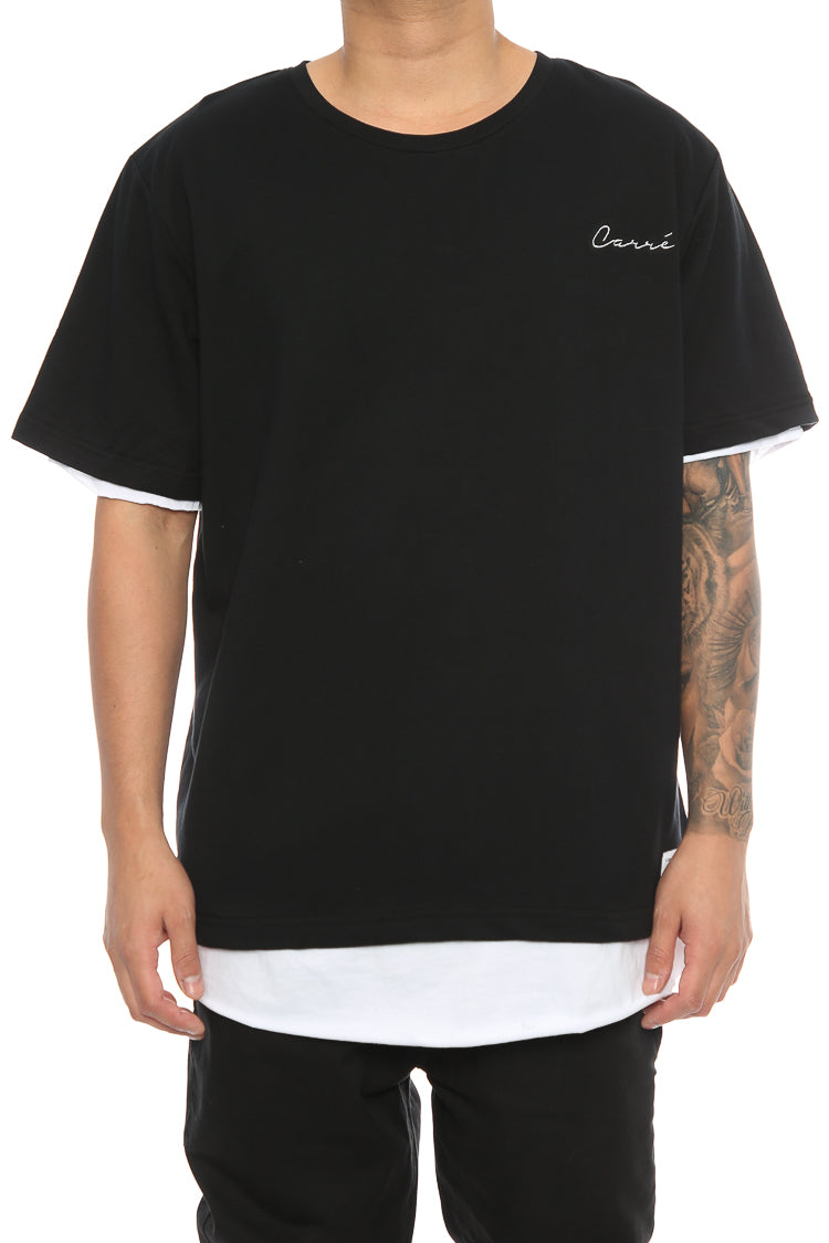 Carré Overlapped 2.0 Tee Black/White