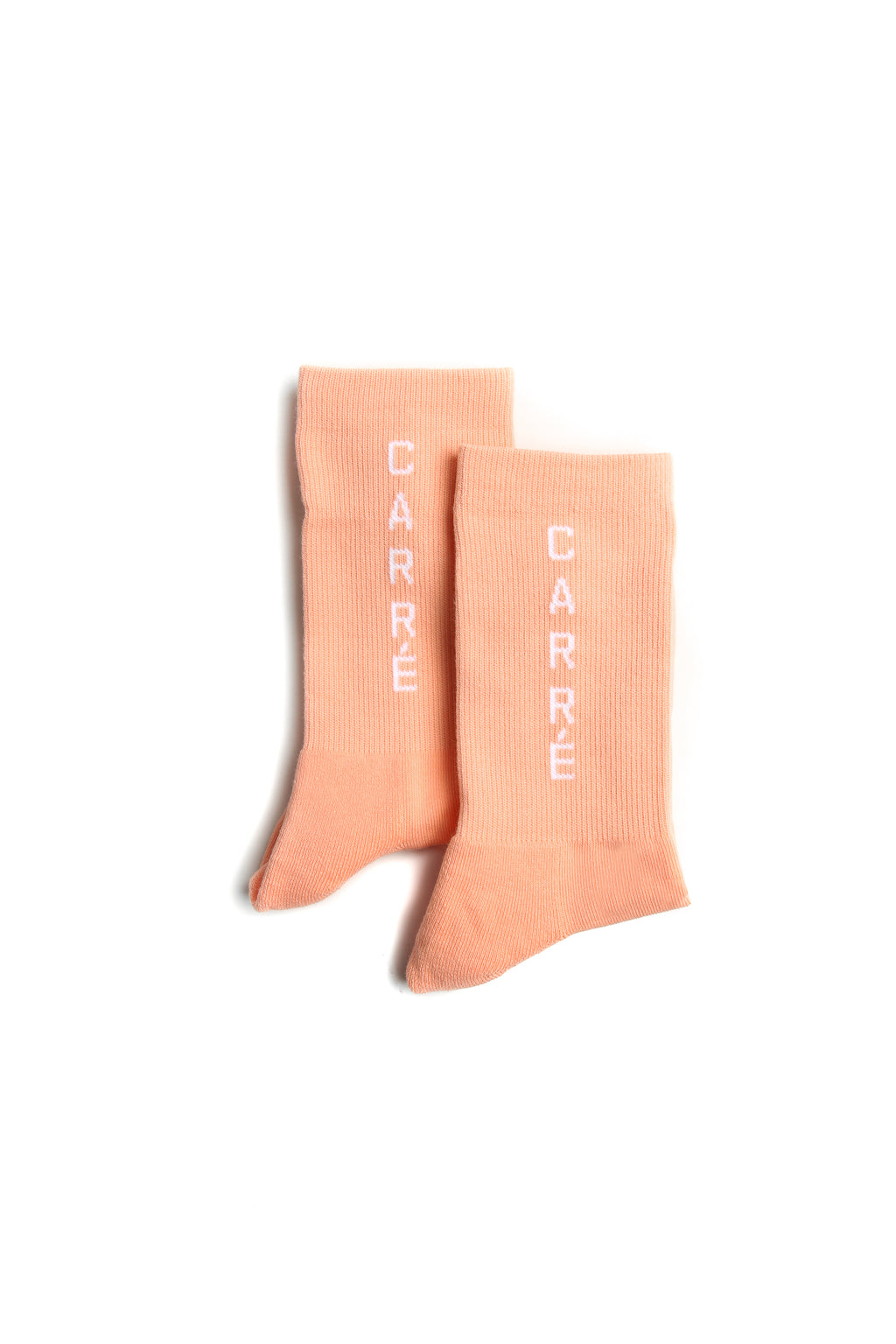 Carré Longitude Socks Peach