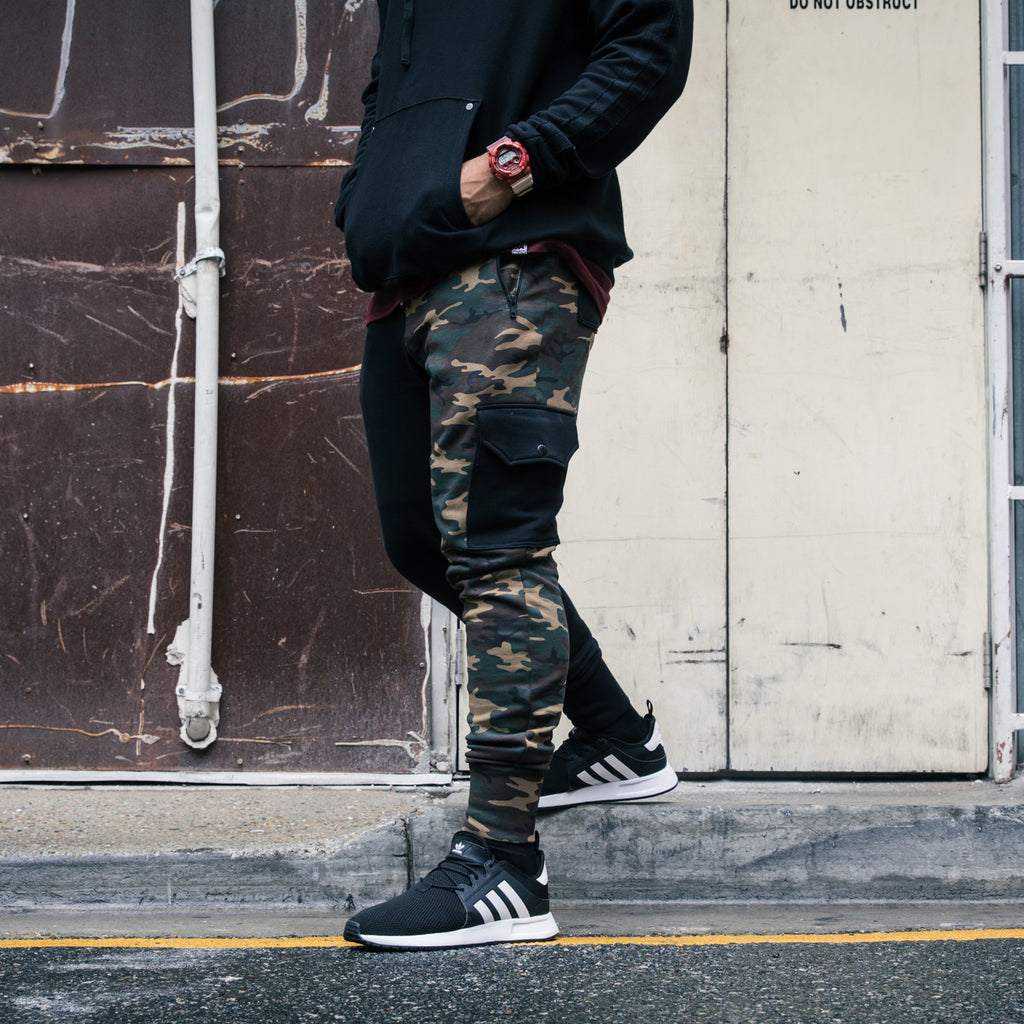 Carré Division Guerrier Trackpant Camo/Black