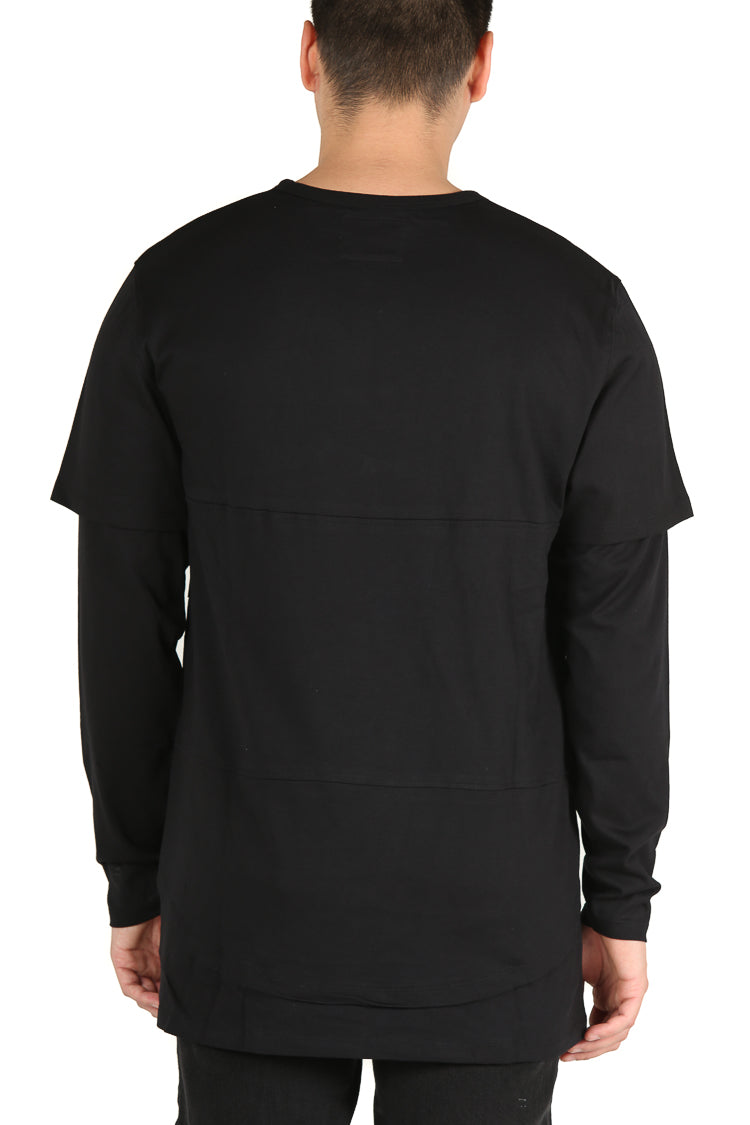 Carré Deux Layered Tee Black