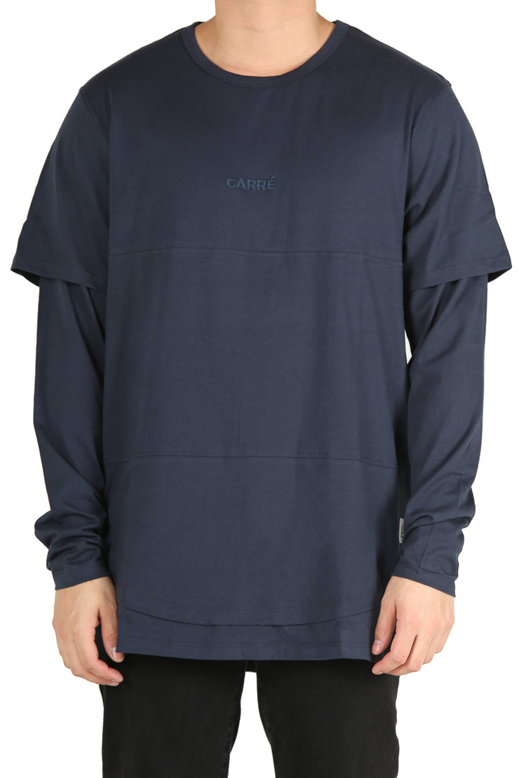 Carré Deux Layered Tee Navy