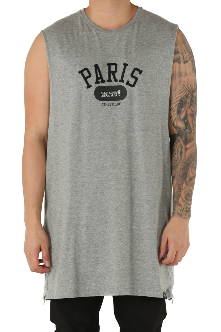 Carré Team Paris Capone Muscle Tee Grey Heather
