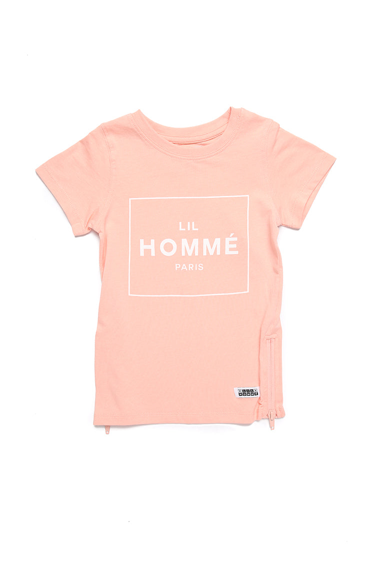 Lil Homme Lil No.5 Capone S/S Tee Peach