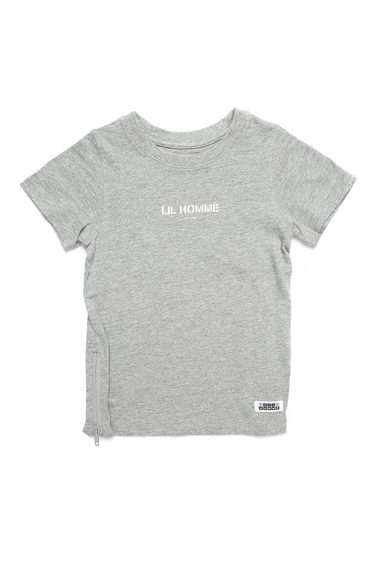 Lil Homme Lil Section 2 Capone S/S Tee Grey Marle