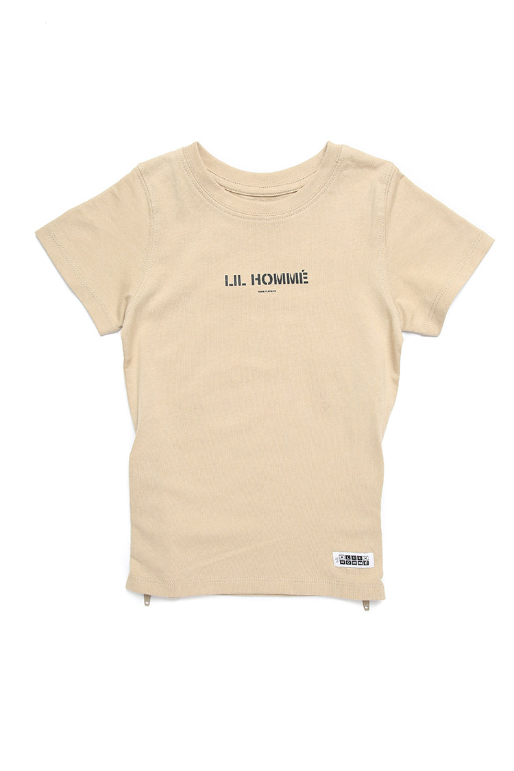 Lil Homme Lil Section 2 Capone S/S Tee Stone