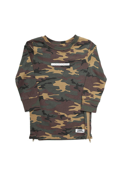 Lil Homme Lil Cube Capone L/S Tee Camo