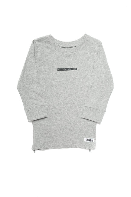Lil Homme Lil Cube Capone L/S Tee Grey Marle