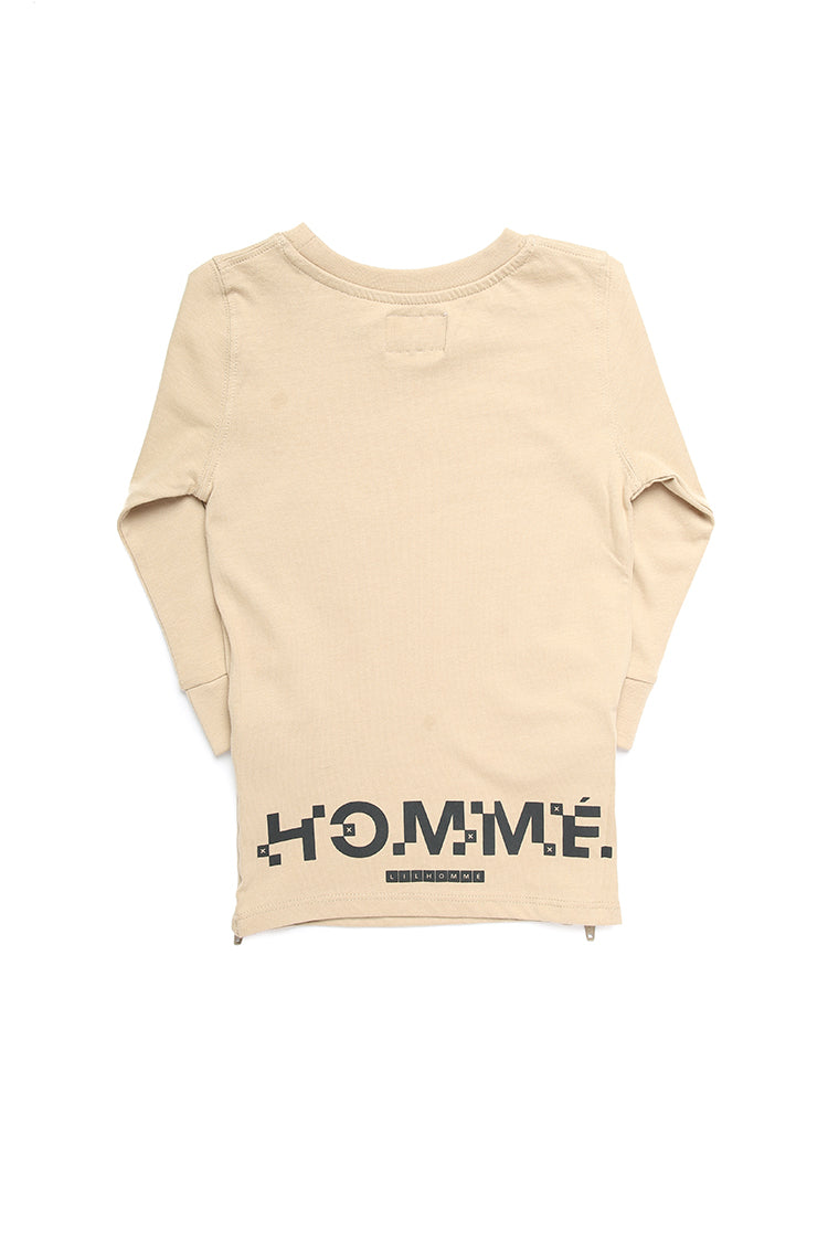 Lil Homme Lil Cube Capone L/S Tee Stone