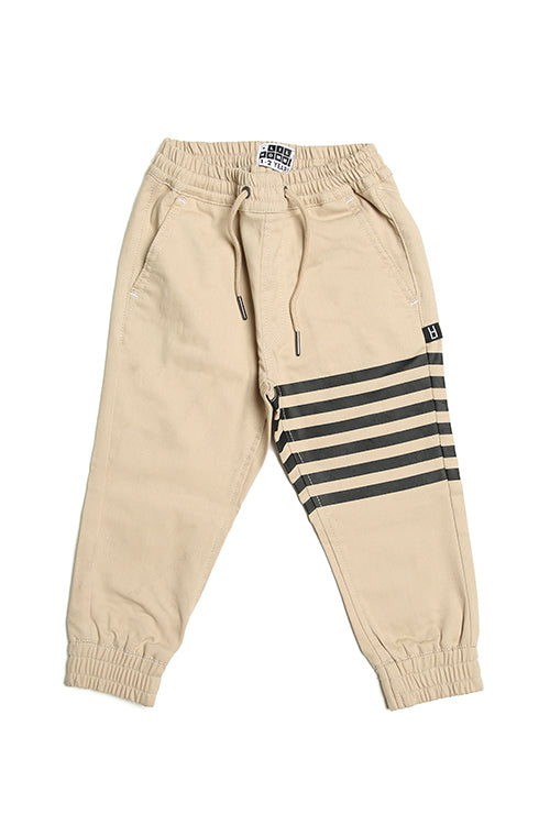 Lil Homme Banded Pro Jogger Stone