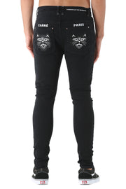 Carré Felin Skinny Jean Black
