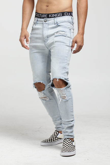 Carré Trou Noir Skinny Jean Light Blue