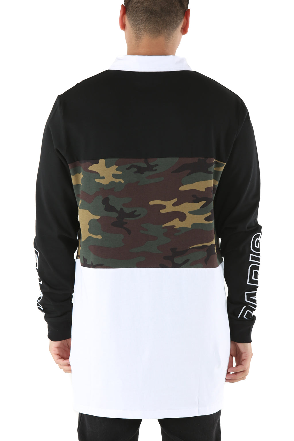 Carré Conducteur Long Sleeve Polo Black/Camo/White
