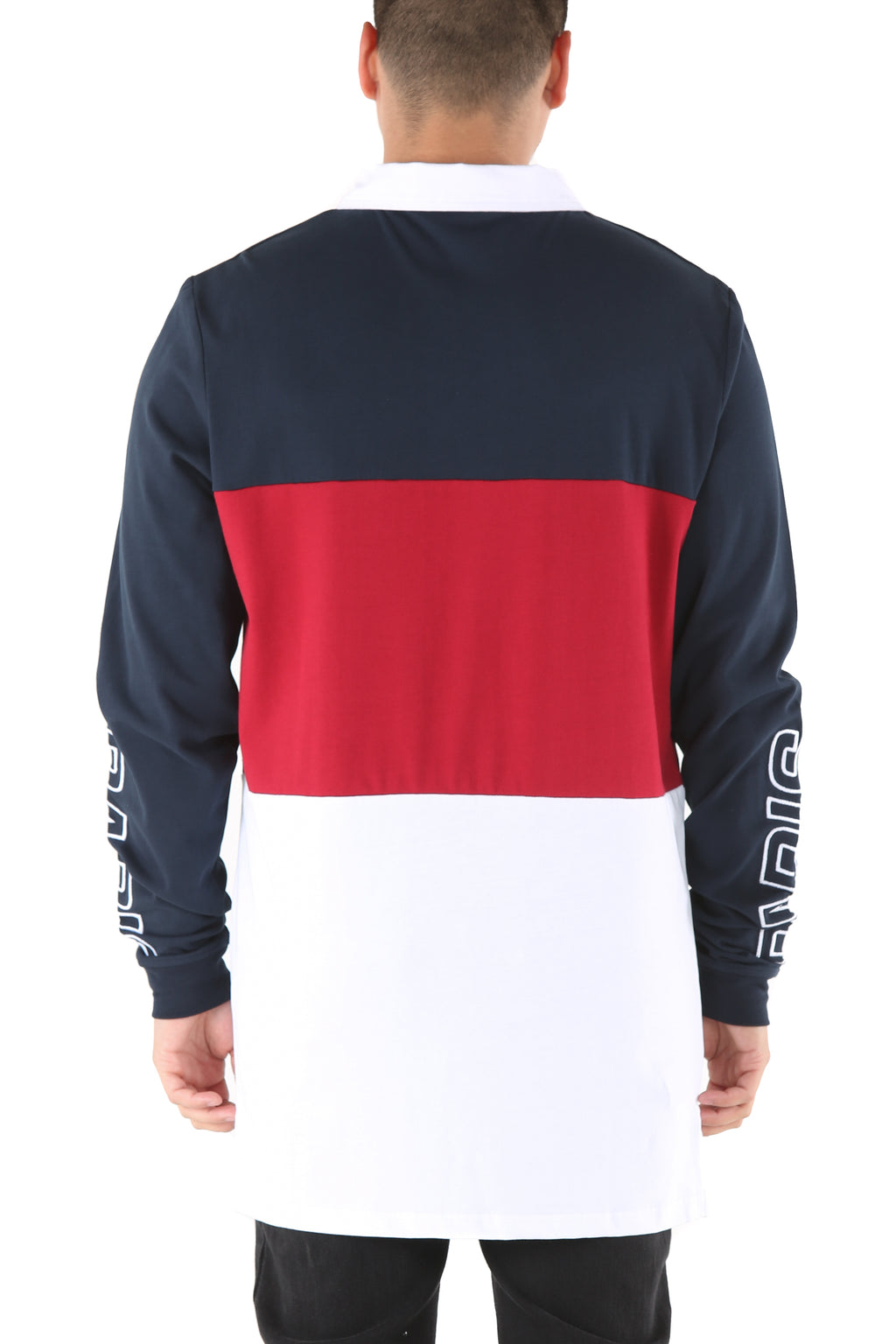 Carré Conducteur Long Sleeve Polo Navy/Red/White