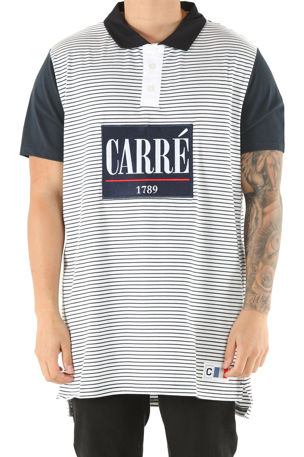 Carré Voile SS Polo Navy/White