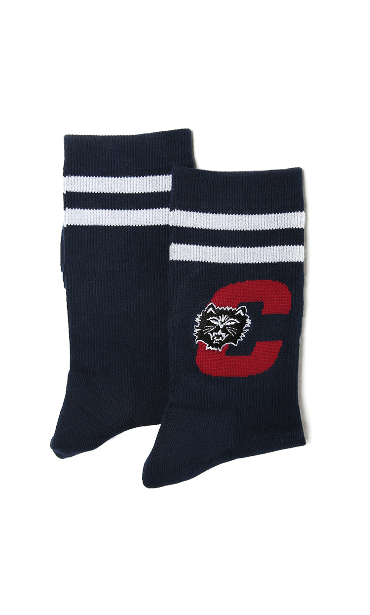 Carré Felin Crew Sock Navy