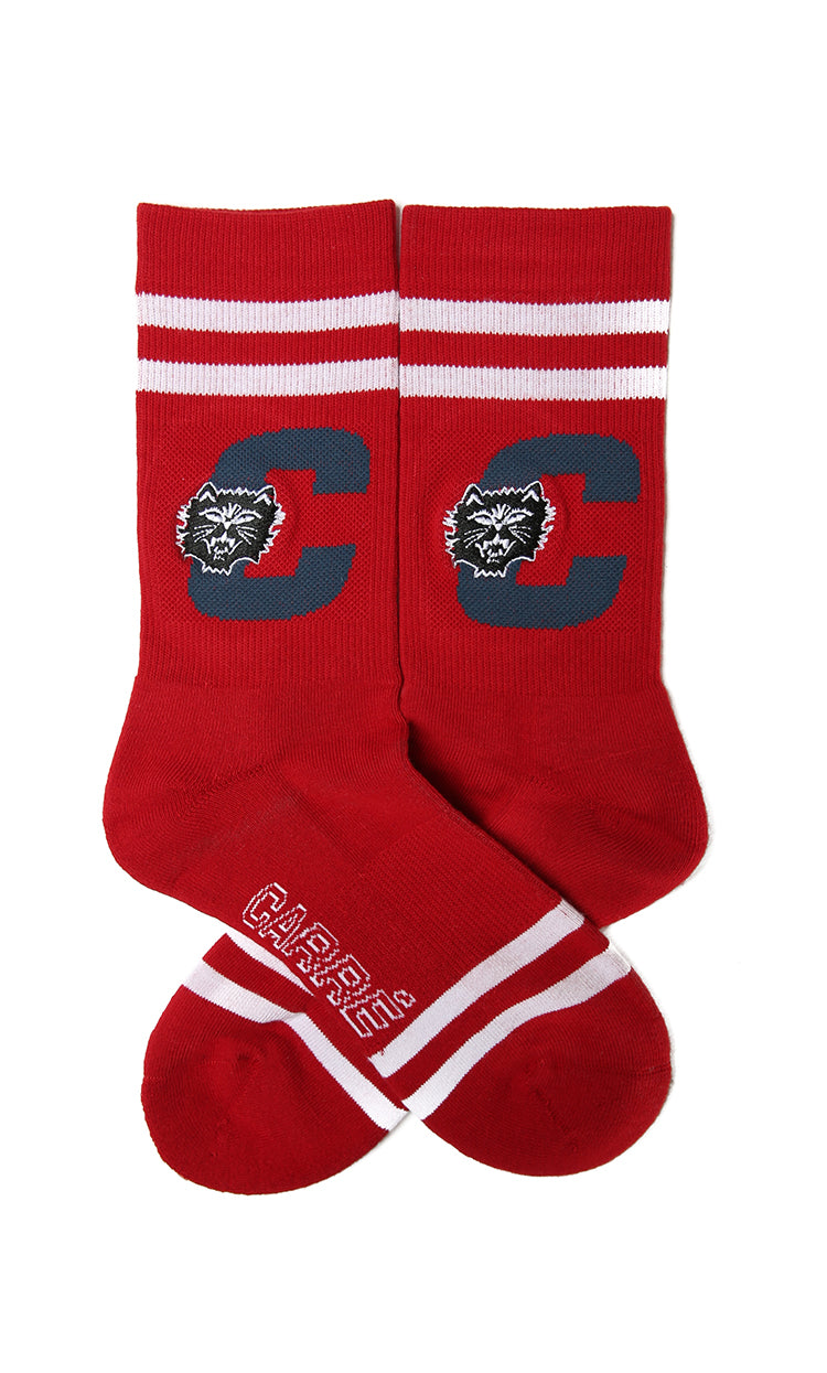 Carré Felin Crew Sock Crimson