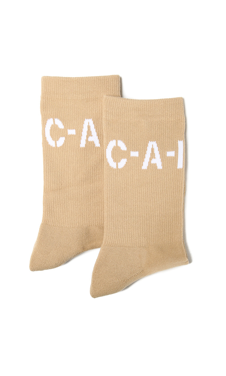 Carré Base Crew Sock Stone