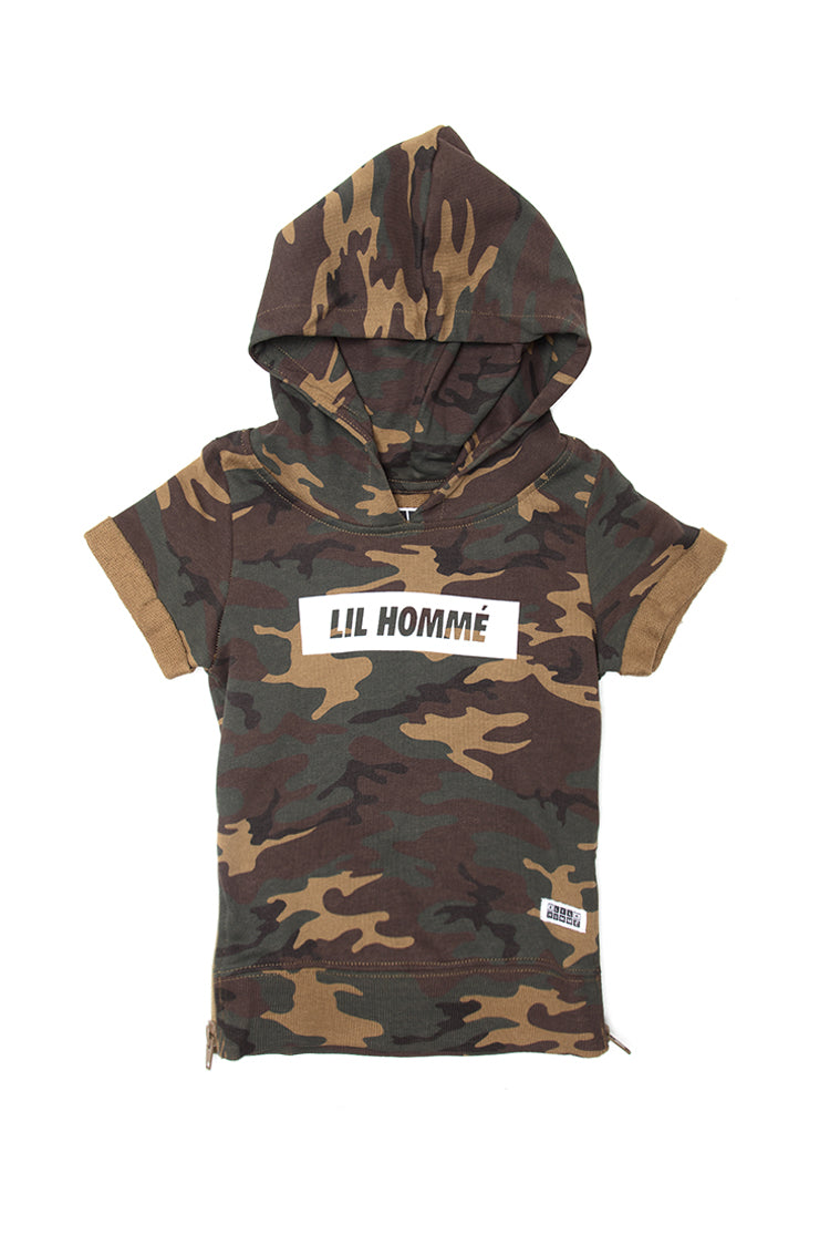 Lil Homme Incline SS Hoodie Camo