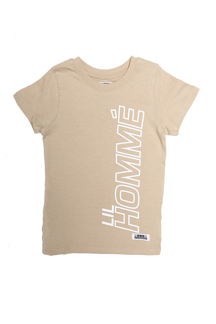 Lil Homme Athlétique Capone SS Tee Grey Stone