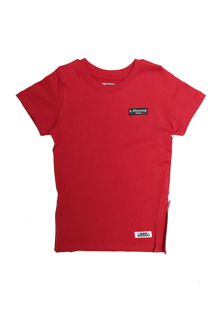 Lil Homme Marque Capone SS Tee Crimson