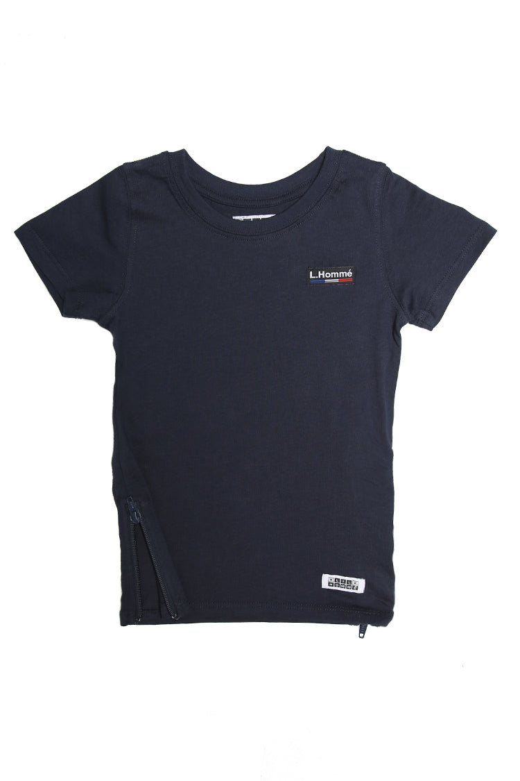 Lil Homme Marque Capone SS Tee Navy