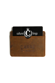 Carré Argent Leather Card Holder Brown