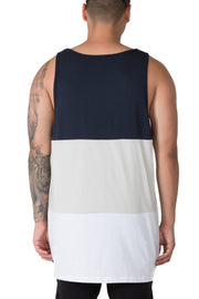 Carré Lamrisse Singlet Navy/Grey/White