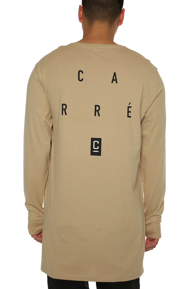Carré Distant Capone LS Tee Stone