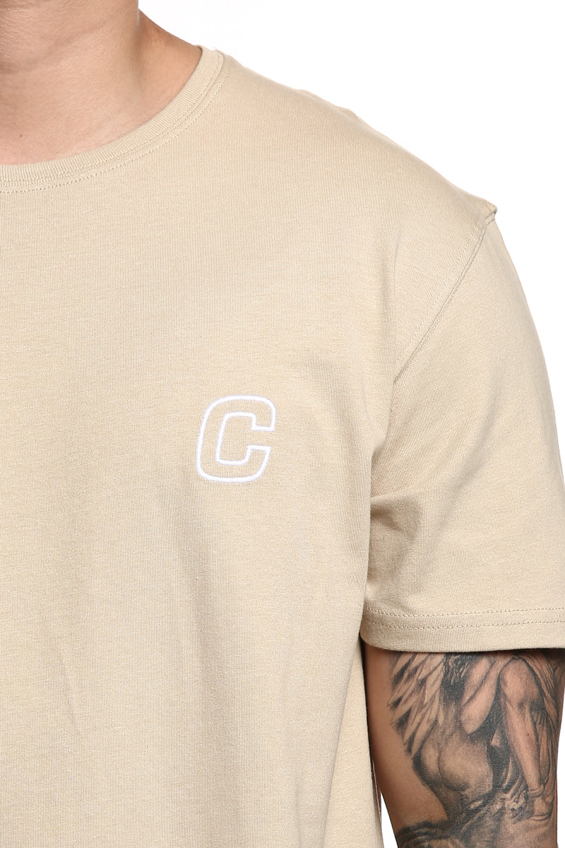 Carré Repetition Capone SS Tee Stone