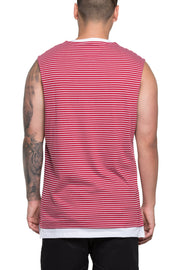 Carré Voile Muscle Tee Crimson