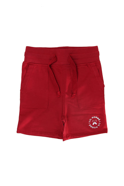 Lil Homme Chiller Short Crimson
